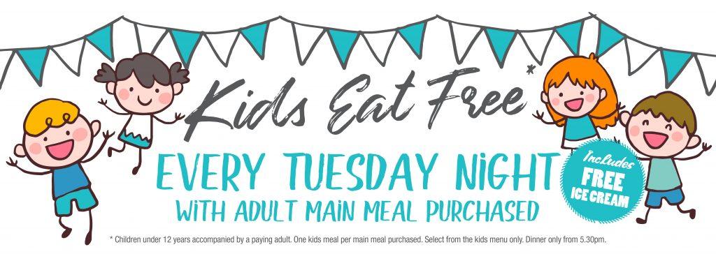 Kids Eat Free at Ripples Licensed Cafe